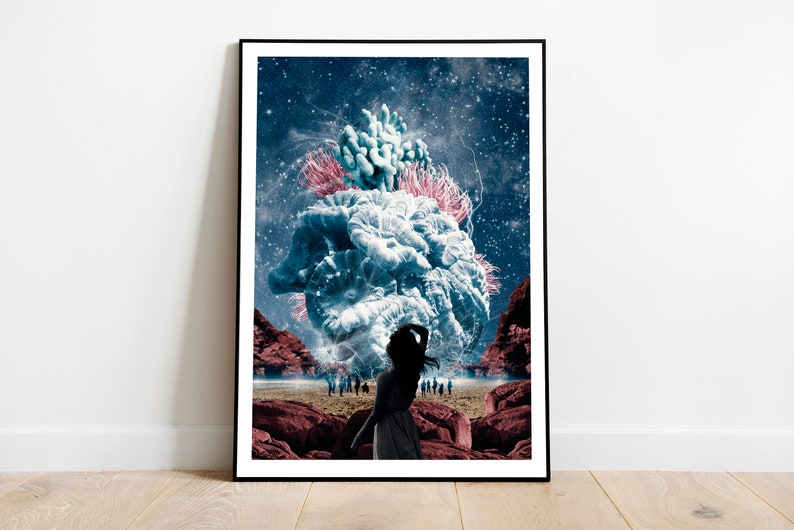 Beautiful art print to decorate your home with a magical and image 0