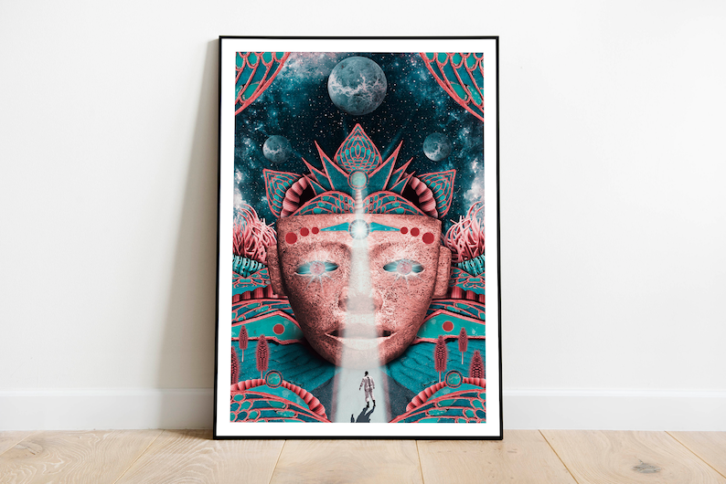 Surreal poster artprint Retro science fiction surreal and image 0