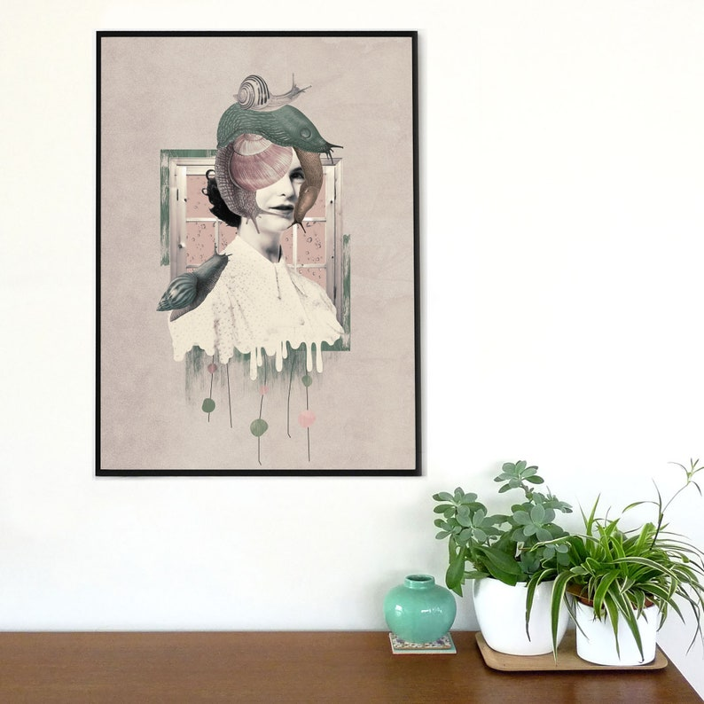 vibrant with beautiful colors perfect to give a magical and original touch to your home. Beautiful artprint with surreal magical
