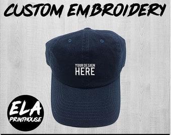 a55e5a7c6 Navy blue dad hat   Etsy