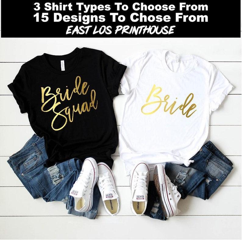 Bride Squad Bachelorette Shirts  Bachelorette Party Shirt  Bride Squad / Black