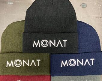 Monat Beanie Embroidered 3D Puff   Monat Skull Cap   Monat Hat   Monat Marketing Partner