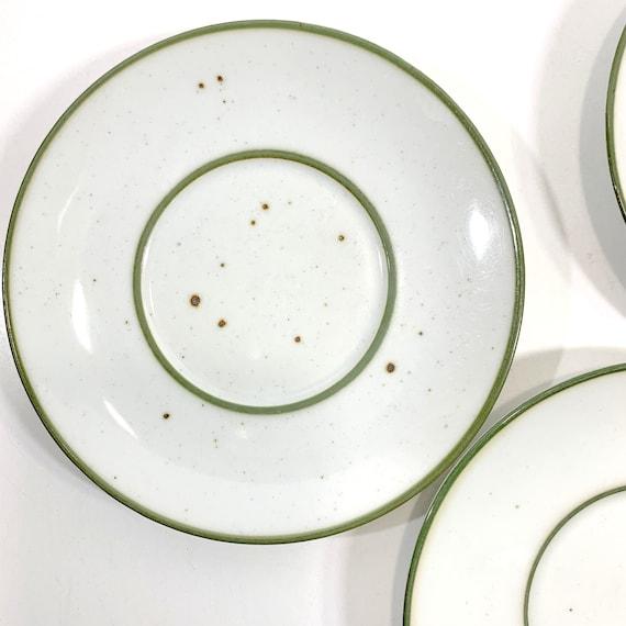 Dansk Denmark Whisper Dinner Plate MCM Impressed Mark Speckled Brown Trim