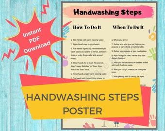 photo regarding Printable Hand Wash Signs identify Handwash indications Etsy