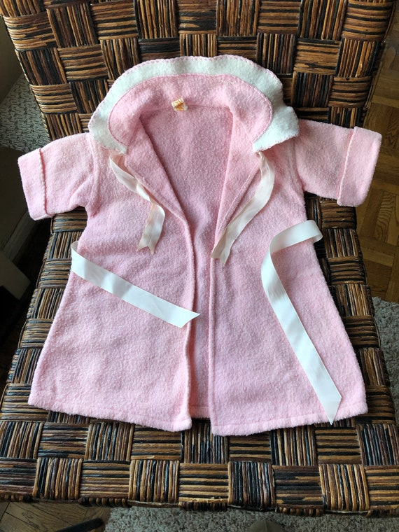 Vintage 50's Baby Robe Pink Sz 12 Mos by Beacon Bl