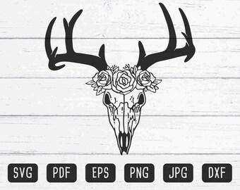 Deer Skull Vector Etsy