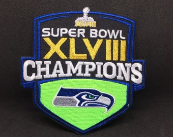 4666cb90f78 NFL Super Bowl Seattle Seahawks Champions patch/Football patch/Iron patch/Embroidered  patch/Iron patch/Patch for jacket/Sew on patch