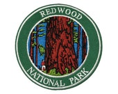 Redwood National and State Parks Sourvenir Patch - Redwoods California Park Iron-on FREE SHIPPING Scrapbooking