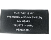 Psalms 28 7 Bible Verse Patch Embroidered Applique Sew Iron On Patch Religious Jesus Christ Church Brother Love