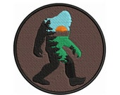 Bigfoot Iron-On Embroidered Patch - Sew-on - Badge Emblem - Outdoor Adventure - Novelty Souvenir Applique - Sasquatch Sightings Forest