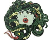 Snake Patch,Medusa Patch,Myth Of Olympus Patch,Embroidered Patch,Sew On Patch,Iron On Patch,Patch For Backpack,For Jacket,For Hat,Punk Patch