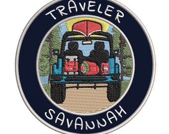 SAVANNAH ONE-WAY SIGN EMBROIDERED IRON-ON PATCH applique GEORGIA SOUVENIR ROAD