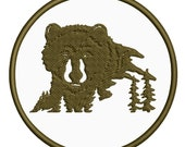 Brown Bear Applique Patch - Grizzly Bear Animal Badge (Iron on)