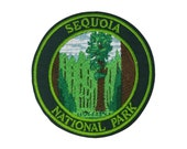 Sequoia National Park Embroidered Patch Iron Sew-on - Badge Emblem - Outdoor Adventure - Novelty Souvenir Applique - Vacation Travel