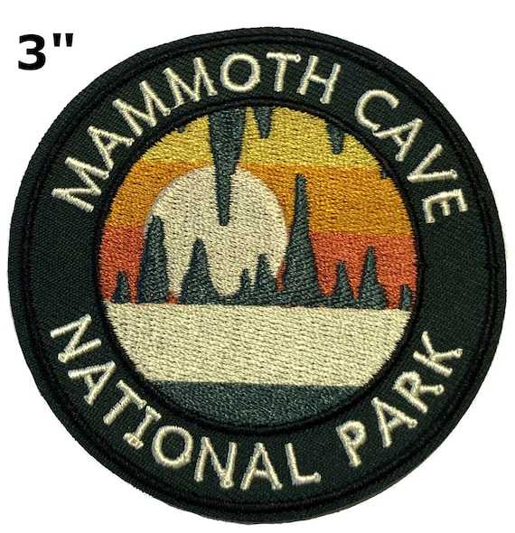 Official Mammoth Cave National Park Souvenir Patch Kentucky FREE SHIPPING