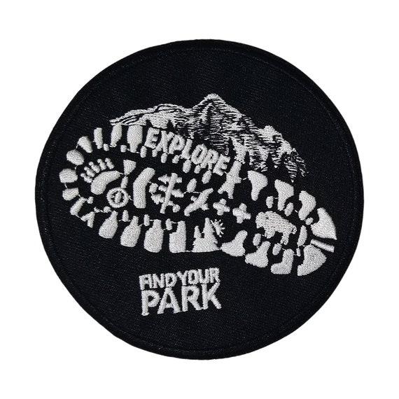 Sew-on Gear Applique Denali National Park Alaska Hiker Embroidered Patch Iron