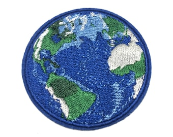 Earth - World - Planet - Earth Day - Mother Earth - Nature - Embroidered Iron On Patch