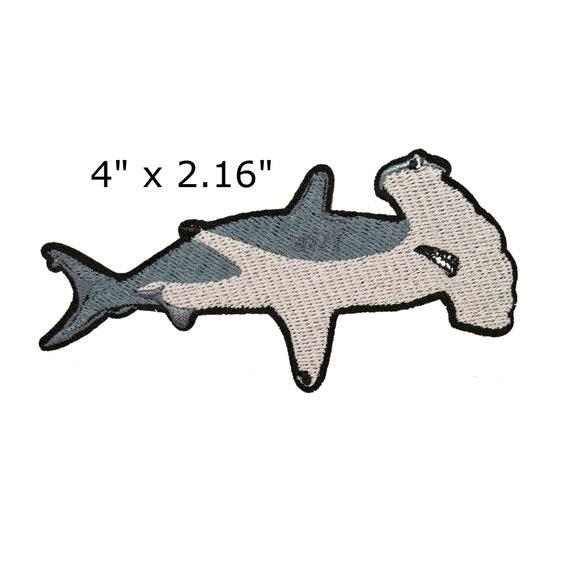 WickedGoodz American Flag Hammerhead Shark Vinyl Decal Perfect Fisherman Ocean Gift Beach Bumper Sticker