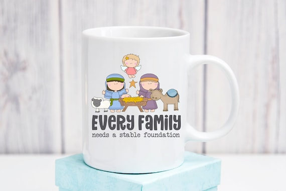 Every Family Needs A Stable Foundation Ceramic Coffee Mug Etsy