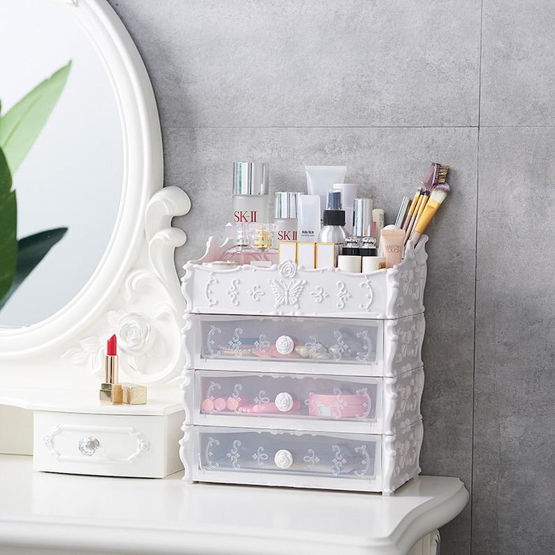 Makeup Organizer Makeup Vanity Desk Organizer Desk Etsy