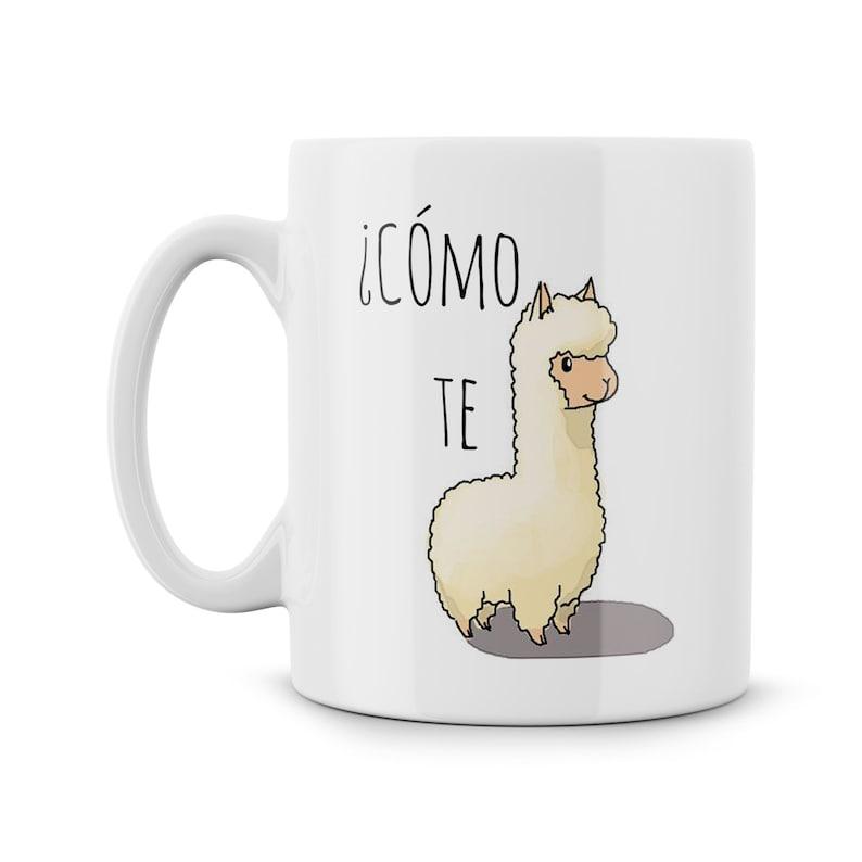 Como Te Llama Funny Parody Ceramic Mug Meme Cómo Te llama image 0