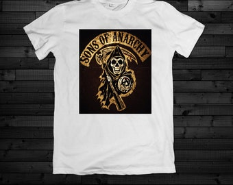 218254e894e Sons Of Anarchy California White Tee Shirt Men New Adult And Youth Sizes  Available Great Gift Or Wear When Watching Comfortable