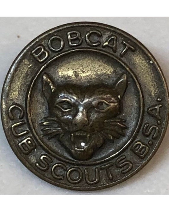 1950s Boy Scouts Bobcat Award Pin - image 1