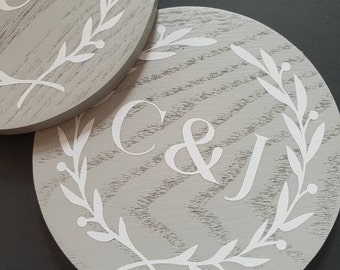 Set of 4 Custom Couples Coasters / Engagement Gift / Wedding Gift / Table Decorations / Wedding Decorations / Personalised Gifts