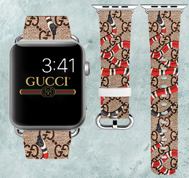 ae16d5d523af9 Inspired by Gucci Apple Watch band Gucci Snake strap Apple Watch 38mm Gucci  band iWatch 42mm strap Women's band Apple Watch 44mm iWatch 40mm