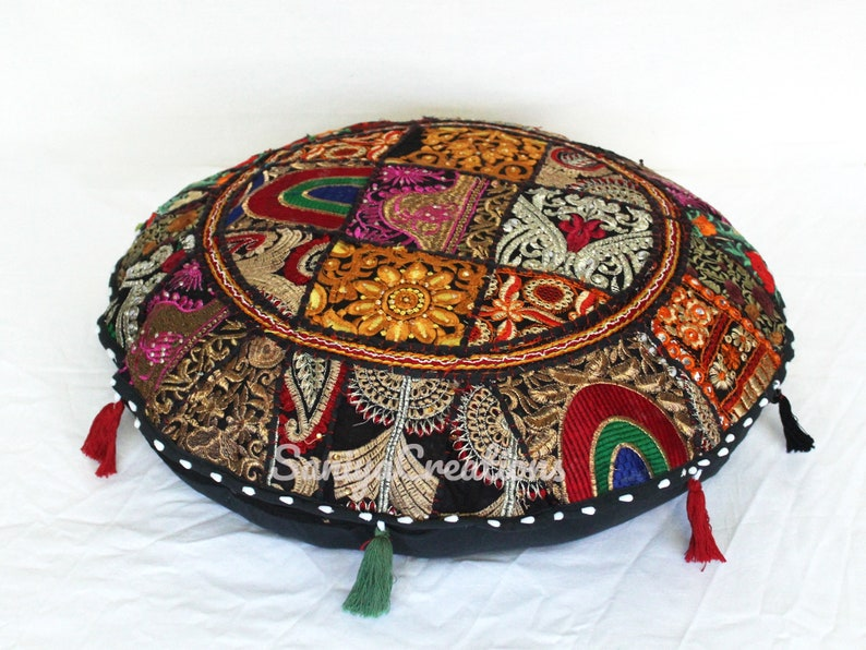 Bohemian Pillowcases  Sitting Ottoman Covers  Decorative Floor Pillow  Meditation Cushion Cover  Decorative Patchwork UNFILLED Cushions