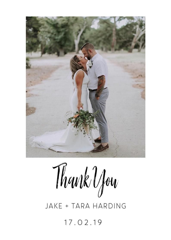 printable Wedding thank you card DIY