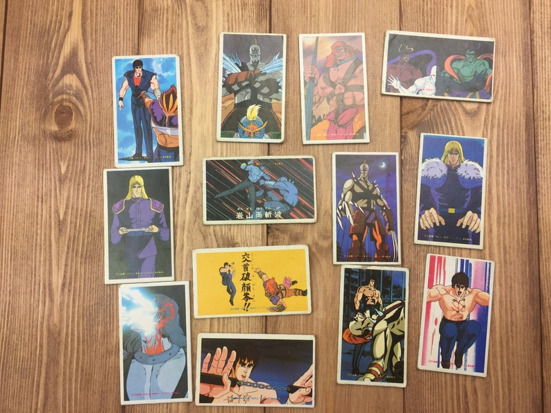 Hokutonoken Japanese Anime Vintage Menko cards set from Japan #3