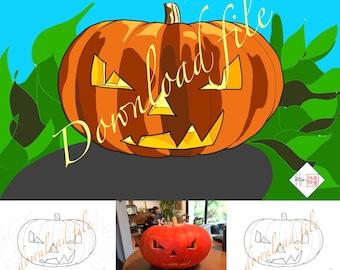 Coloriage Halloween, dessin numérique à télécharger.