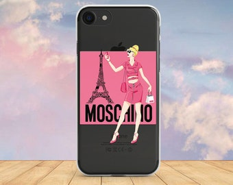 08ce01483 Inspired by Moschino Print Silicone Case iPhone 8 Plus Case iPhone XS Max  Case iPhone Moschino Case Galaxy S10 Plus Case iPhone X Case Brand