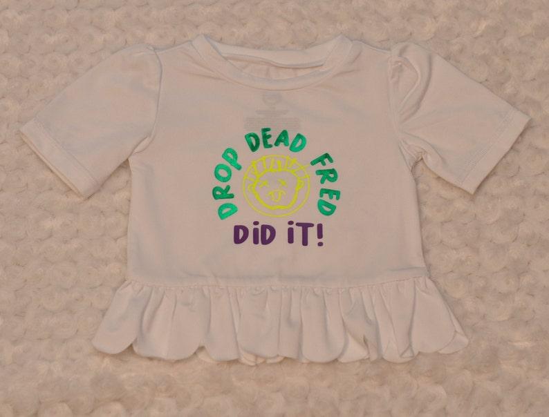 Black Drop Dead Fred Movie Toddler Shirt