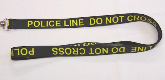 POLICE LINE DO NOT CROSS LANYARD NECK STRAP ID HOLDER