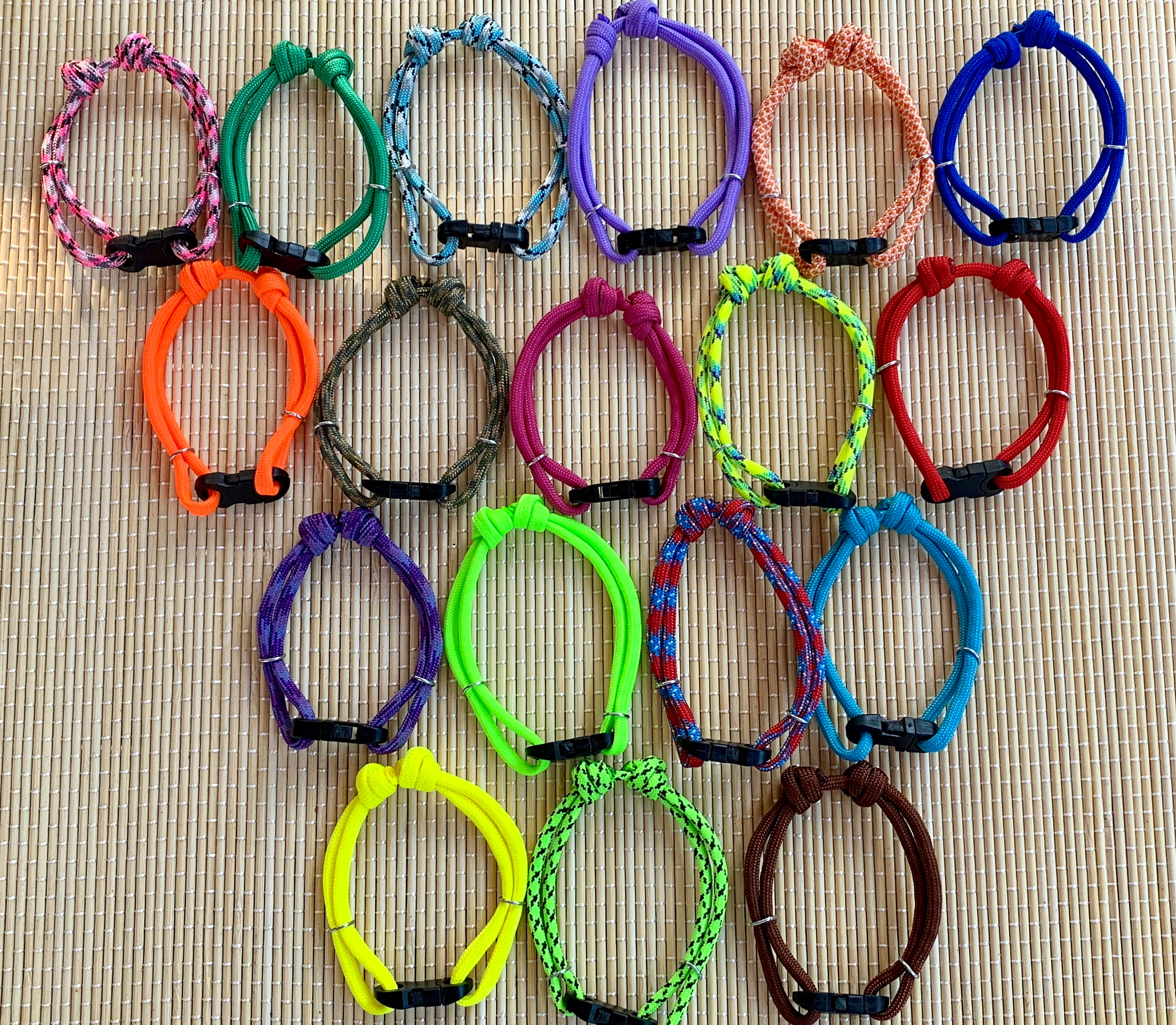 """Choice of Colours 8/"""" 6Handmade Puppy ID Whelping Collars; Adjusts from 5/"""""""