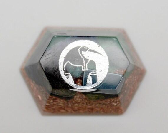 Thoth Foil Mini Altar Orgone Energy Blue Sodalite Black Hematite, Smoky Quartz and Celestite - 1.6 inch Pocket Sized Magic Charm -