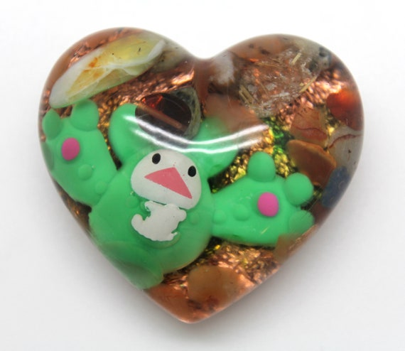 Reuniclus - Funky Blue Blob in a Green Blob Pokemon Display Piece PoGo - Psychic Type Pokemon Trapped in Resin! Tourmaline and Rutilated Q