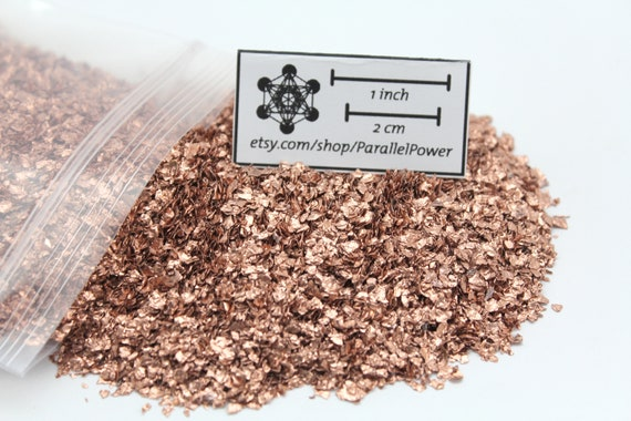 Shredded Copper Foil/Flake - For Crafts (1mm-4mm) Recycled for Orgone Generators and crafts
