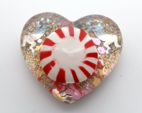 Peppermint Candy with Sparkling Unicorns and Glitter! Food Oddities - Candy Love!  2 inch