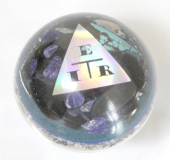EMF Blocking Resistance Calculator Triangle Half Dome Steel Obsidian Shungite Turquoise