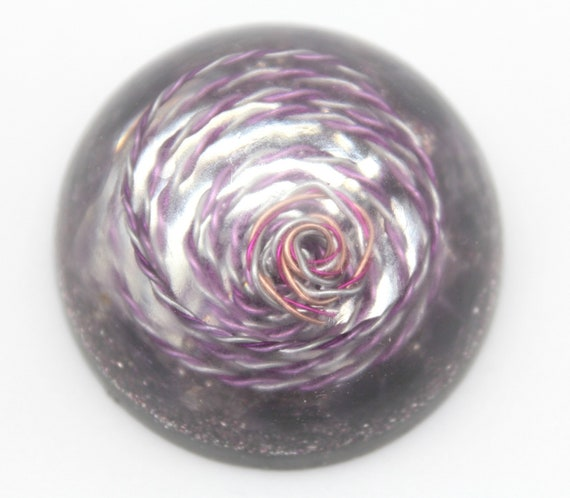 Purple Spiral Spectrum Harmonizer Retune your environment - Balance the minor key harmony in your office Mirror and Amethyst