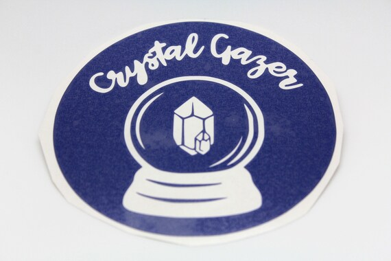 Crystal Gazer Sticker Vinyl for Laptop, Car Window, Home - Pick a Style!  Perfect for the Metaphysical Teacher/Student/Practitioner