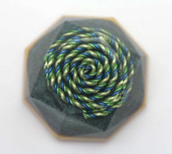Yellow, Green and Blue Spiral Spectrum Harmonizer Re tune your environment - Balance the minor key harmony at Home Ultra-fine Turquoise