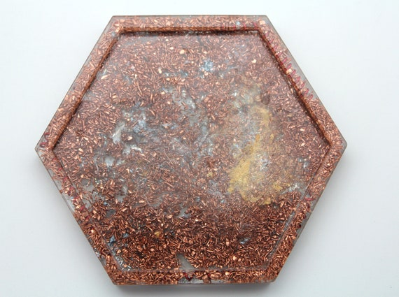 Wild Recycled Copper and Glitter 4 Inch Altar Dish Perfect for Ritual Use