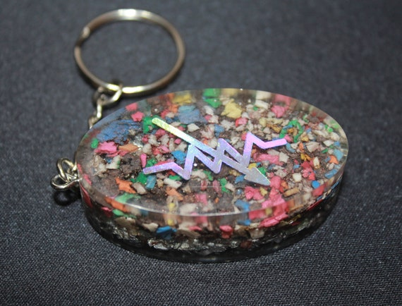 Variable Resistance Rainbow Insulation Foil EMF Blocker Keychain Pocket Electrical Blocker 2 inch