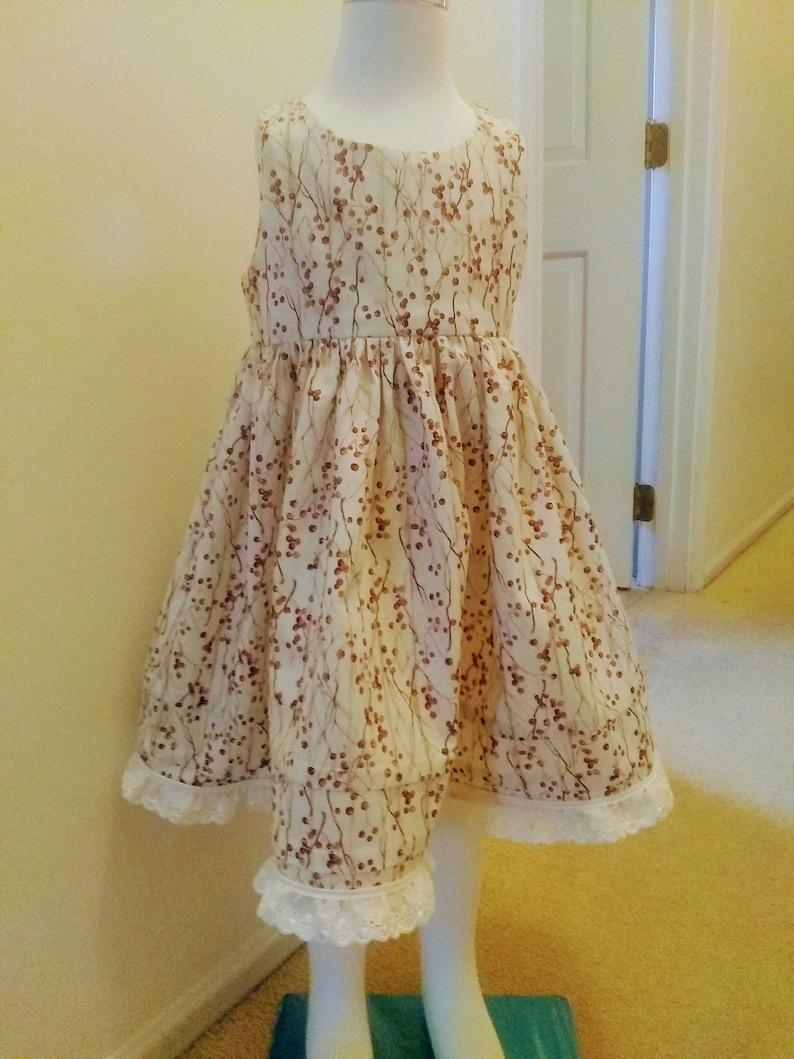 Size 4T Double Dress with Vintage Lace trim