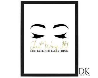 Winged Eyeliner Art Etsy