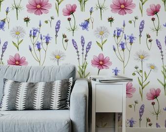 Wild Flowers   Removable Wallpaper   Pattern #213